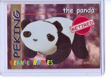 Ty S1 *Red* Retired *Peking The Panda Bear* Beanie Card Only Rare Insert 4013