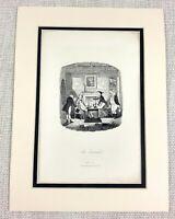 1885 Antico Stampa George Cruikshank Illustrazione The Archibald's Interno Scena