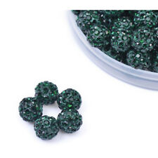 20*10mm Pave Spacer Czech Crystal Shamballa Beads Disco Balls Polymer Clay Beads