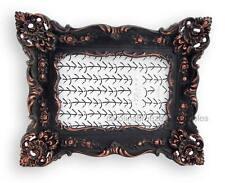 Baroque Rococo Photo Frame Matte Black and Copper Finish For 4x6 Picture