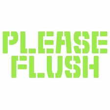 Please Flush High Quality Waterproof Vinyl Decal Sticker for Bathroom Toilet