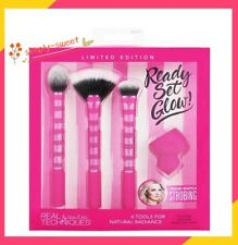 Real Techniques Brushes Set Ready Set Glow,  Free beauty samples!  US Seller!