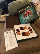 QUARTO! Two Player Strategy Game Vintage 1991 Gigamic Wooden Board & Pieces