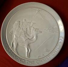 "1972 Frankoma Collector Plate ""Seeking The Christ Child"" - John Frank Christmas"