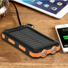 10000mAh Solar Power Bank DIY Case Dual USB Charger+LED Flashlight+Compass Kit