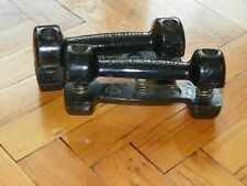 Vintage Cast Iron Sprung Dumbbell 2 x 1.2kg Eugen Sandow - Bodybuilding Father's