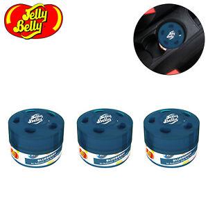 3x Jelly Belly Bean Sweet Gel Can Car Air Freshener Freshner - Blueberry 15514