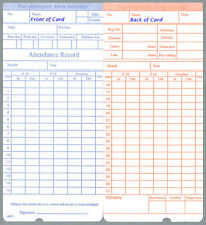 (50) Time Cards for uPunch HN1000 / HN3000 / HN3500 / HN5000 (HNTC Compatible)