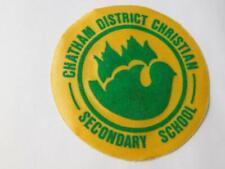 CHATHAM DISTRICT CHRISTIAN  SECONDARY SCHOOL VINTAGE PATCH SOUVENIR SCHOOL BADGE