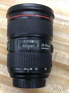Canon 24-70MM Ultrasonic Zoom Lens EF 1:2.8 L II USM.