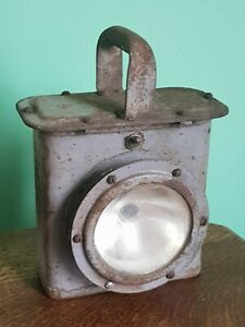 WW2 US Navy Vintage WWII Submarine Battleship Bulkhead Lantern Lamp Light