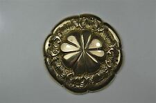 Beautiful Victorian brass ormolu roundel mount mirror furniture emblem SMB5