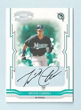 MIGUEL CANRERA 2005 THROWBACK THREADS AUTOGRAPH AUTO /15