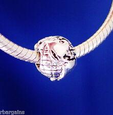 World Earth Travel Globe Love Silver European Charm Bead  fit for bracelet