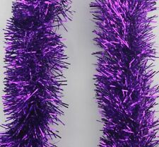 2m 65ft chunky tinsel chrismas tree decoration garland 7 colours silver gold rose