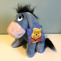 "Disney Eeyore Soft Toy Plush 8"" Tall Winnie The Pooh BNWT"