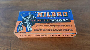 VINTAGE MILBRO SPECIAL THUMBGRIP CATAPULT ORIGINAL BOX ONLY