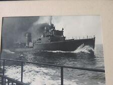 Vecchia fotografia nave Marina incorniciato immagine carta fotografica Agfa Brovira 40er anni