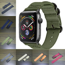 Durable Military Woven Nylon Watch Band Strap Buckle For apple watch Series 4321