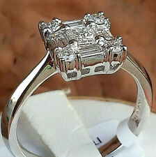18K White Gold Diamond Ring/Engagement  size 6