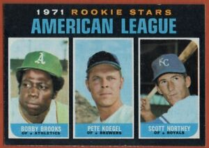 1971 Topps #633 Rookie Stars NEAR MINT+ Bobby Brooks/Pete Koegel/Scott Northey