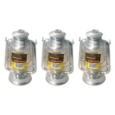 3 X Paraffin Hurricane Storm Lantern Parafin Oil Lamp Camping Outdoors