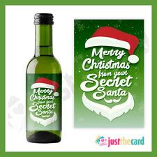 Secret Santa Gift Personalised Mini Wine Bottle Label for Christmas