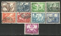 Germany Third Reich 1933 Sc# B49-B57 Used VG - Nice scarce used set Wagner issue