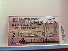 Football Ticket - RSCA Anderlecht - AFC Rapid Bucuresti - 2003 UEFA