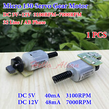 DC3V-12V Mini 130 Servo Worm Gear Motor 32 Line AB Phase Speed Encoder Code Disk