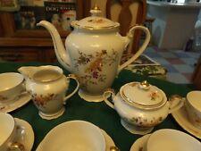 VINTAGE RARE EPIAG D.F. CZECHO SLOVAKIA PORCELAIN TEA/COFFEE SET