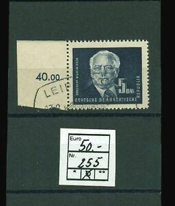 DDR Mi Nr. 255 Randstück Präsident Wilhelm Pieck 5 DM, gestempelt