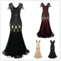 Womens Gatsby Dress 1920s Flapper Long Sequin Retro Party Evening Costume UDD