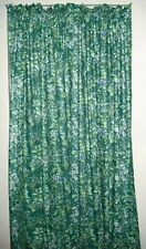 "BRAMBLE BERRY Drapes LAURA ASHLEY BLUE GREEN FLORAL 84"" DRAPES PAIR"