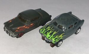 LOT OF 2 Vintage ? Slot Cars with Flames