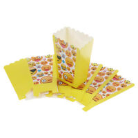 Emoji Expression Cartoon Popcorn Candy Boxes Birthday Party Supplies Flags New