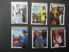 Nueva Zelanda 2001 la reina Isabel II 75th Cumpleaños Set NHM SG 2446/51
