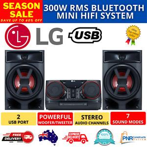 300W RMS Bluetooth Mini HiFi System FM Radio CD Player Jukebox USB Port AUX Jack