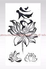 US SELLER- lotus flower temporary tattoo cool tattoos on wrist