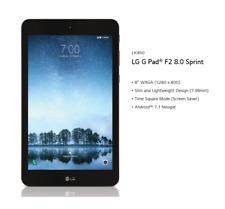 LG G Pad F2 LK460 8 in. 16GB Sprint 4G LTE Tablet (Black) - Fast Shipping