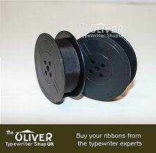 SILVER REED SR100 TABULATOR TYPEWRITER RIBBON BLACK - BLACK/RED