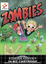Zombies Ate My Neighbours SEGA Mega Drive Framed Print (Picture Poster Game Art)