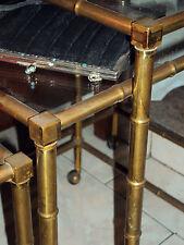 tris tavolini ottone Bamboo Maison Bagues