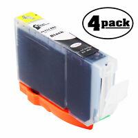 4-Pack Black Ink Cartridge for Canon PIXMA Pro9000 Mark II, IP4300 MP530 Printer
