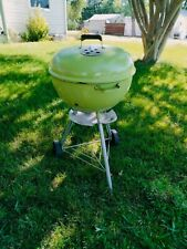 Rare 22 Vintage Weber Grill Two Tone Brown Kettle Barbecue Minty With Manual