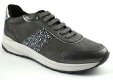 Geox Damen Sneaker Airell D942SA 022NF C9002 Grau Suede Gr37