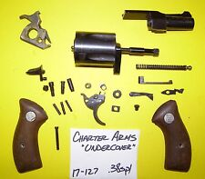 CHARTER ARMS UNDERCOVER 38 SP MODEL BLUE WOOD ALL THE PARTS PICTURED  # 17-127