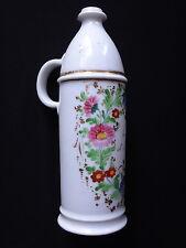 Bouteille en porcelaine Huile de Neuville 24cm peinture Old bottle oil ceramic