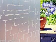90 CM x 10 M - Bricks Removable Frosted Window Glass Film for privacy