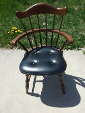 Vintage Nichols and Stone Black Padded Desk or Dining Chair